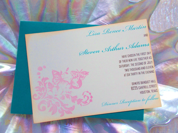 No. 037 - Butterfly Garden Wedding Invitations