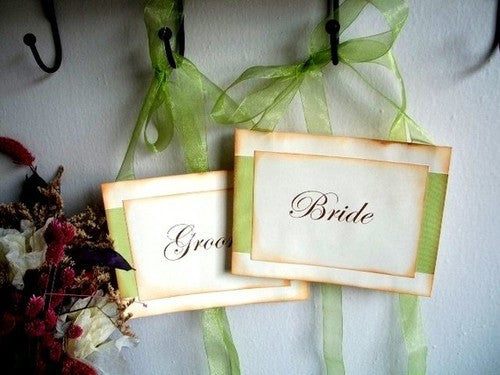 No. 046 - Bride and Groom Chair Sign
