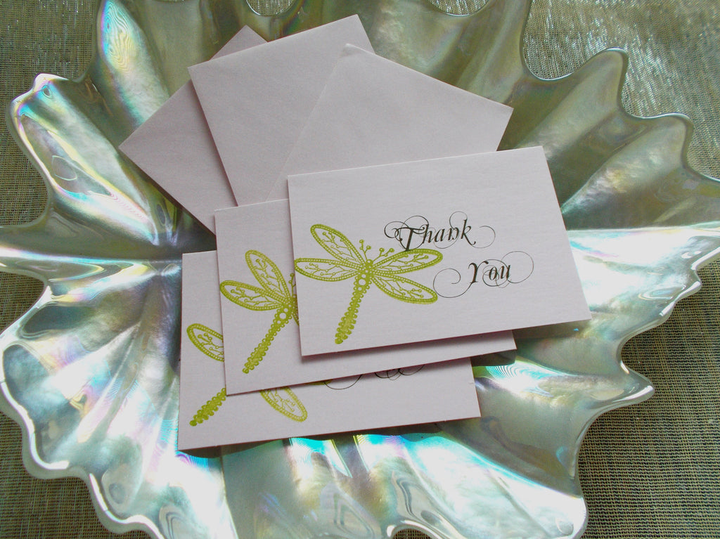 No. 056.1 - Set of 50, Dragonfly Thank You Cards