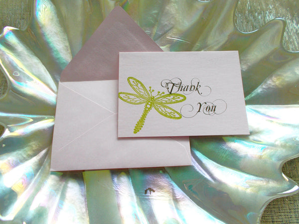 (No. 056.1) - Set of 50, Dragonfly Thank You Cards