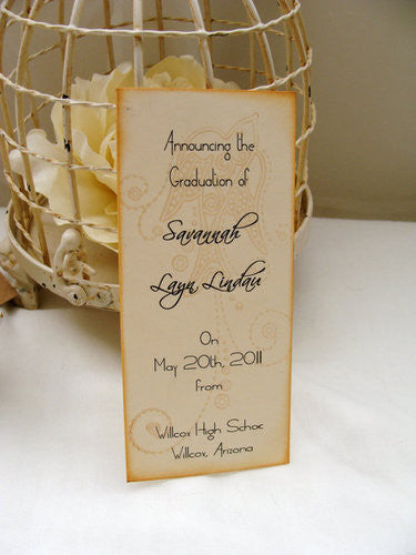 No. 073 - The Savannah Graduation Announcement Bookmark