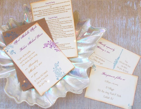 No. 079 - The April Wedding Invitation Set