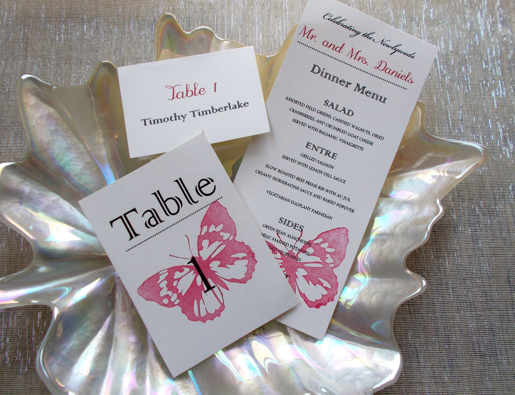 (No. 086.4) - Red Butterfly Dinner Menu