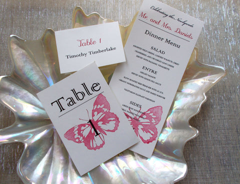 No. 086.4 - Red Butterfly Dinner Menu