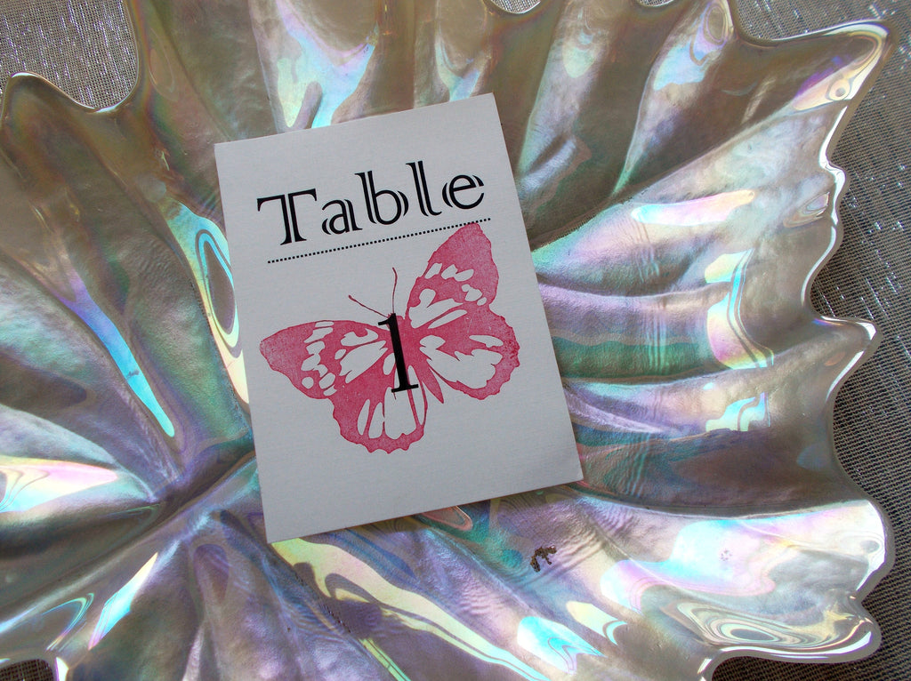 (No. 086.5) - Red Butterfly Table Number