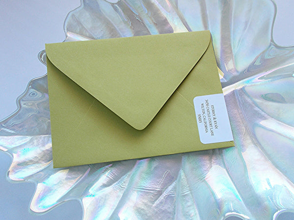 No. 089 - The Stormy Wedding Invitation Collection in Chartreuse