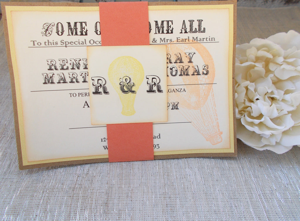 (No. 094) - Carnival/Circus Themed Wedding Invitation