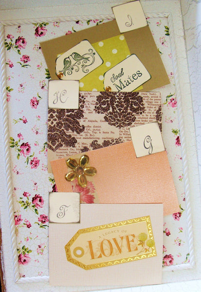 No. 101 - Pink and Green Wedding Wish Guest Box, Address File Box, Recipe Box, Guest Book