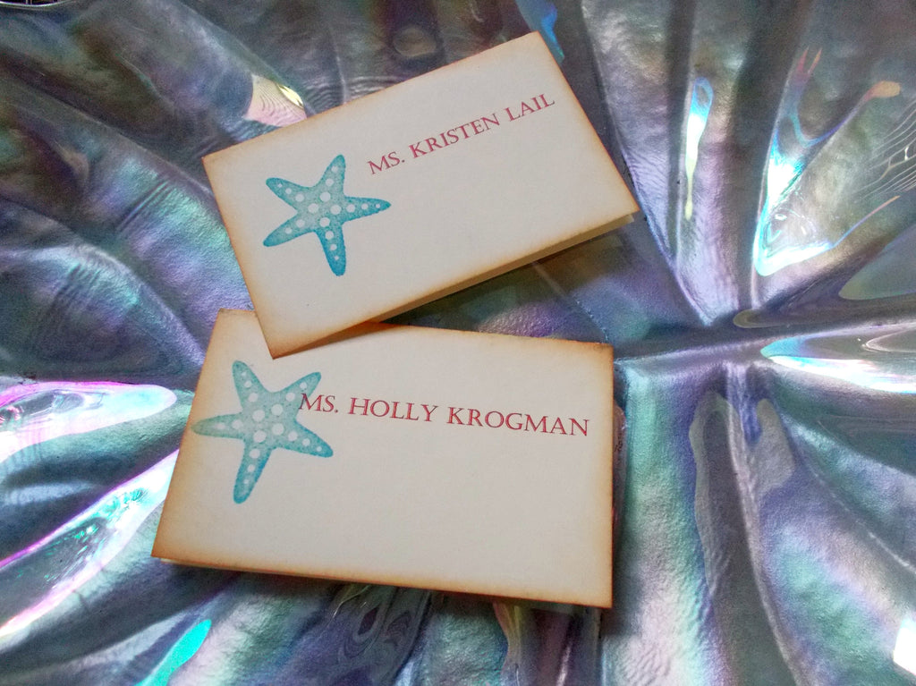 (No. 115.2) - Starfish Place Cards, Set of 25