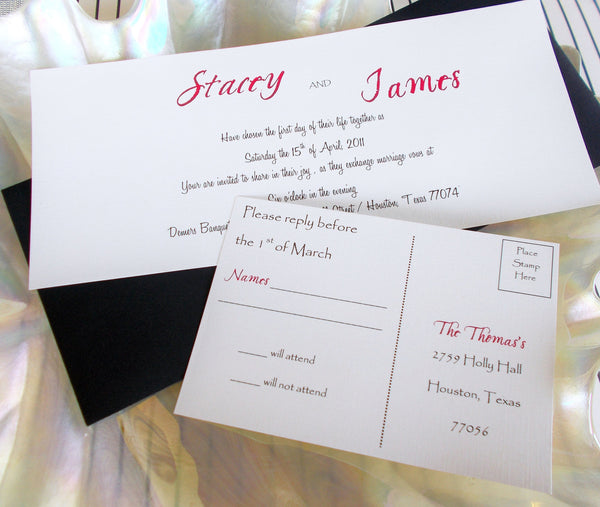 No. 118 - Elegant Stacy Tea Length Wedding Invitation