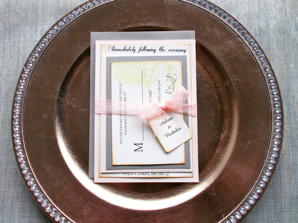 (No. 122) - The Blush Stormy Wedding Invitation Collection