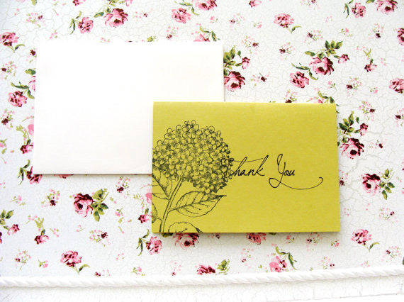 (No. 089.1) - The Stormy Thank You Cards in Chartreuse
