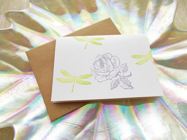 No. 136 - Rose in My Garden Blank Note Card