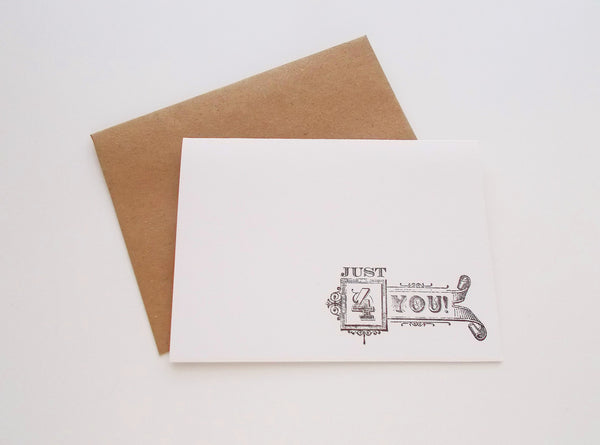 No. 138 - Just 4 You Greeting Cards