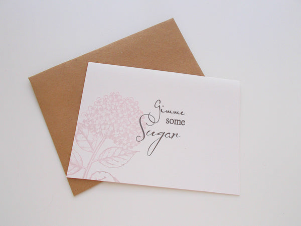 (No. 140) - Give Me Some Sugar Blank Note Card