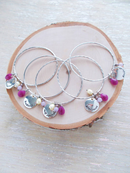 7999JB - Set of 5 Bridesmaids Charm Bracelets