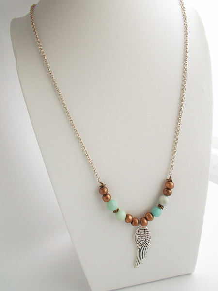 (No. 8650JN) - Wing Charm Layering Necklace