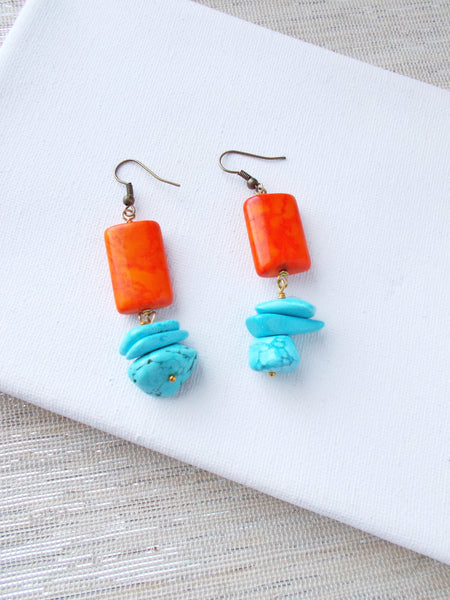 8653JE - Tangerine Dash Earrings