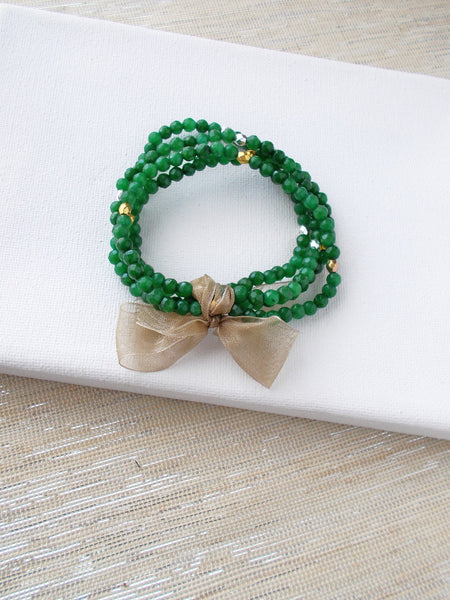 8665JB.a - Betty Pop Bracelet in Forest Green