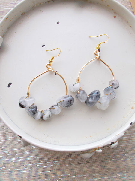 (No. 8681JE) - Shower Storm Earrings