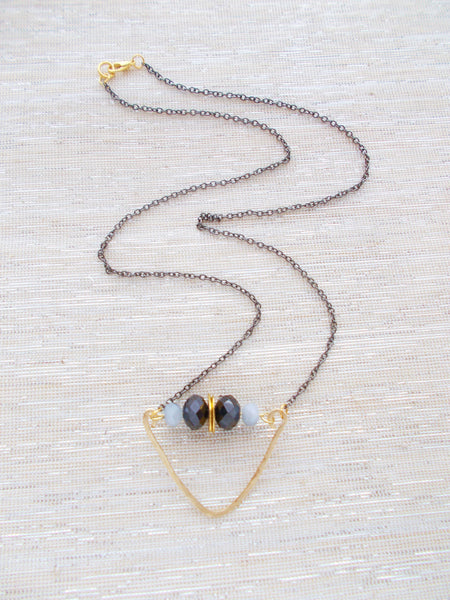 8688JN.b - Rainstorm Necklace in Gray
