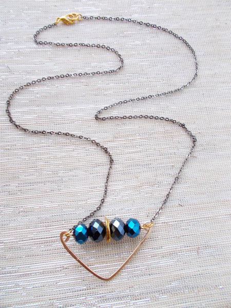 8687JN.b - Rainstorm Necklace in Blue