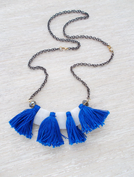 8695JN - Avalanche Convertible Necklace, in Blue