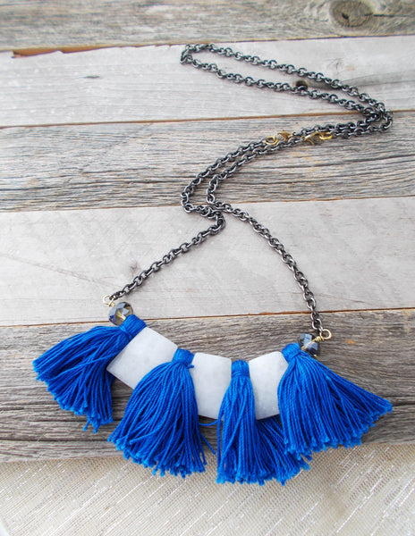 (No. 8695JN) - Avalanche Convertible Necklace, in Blue