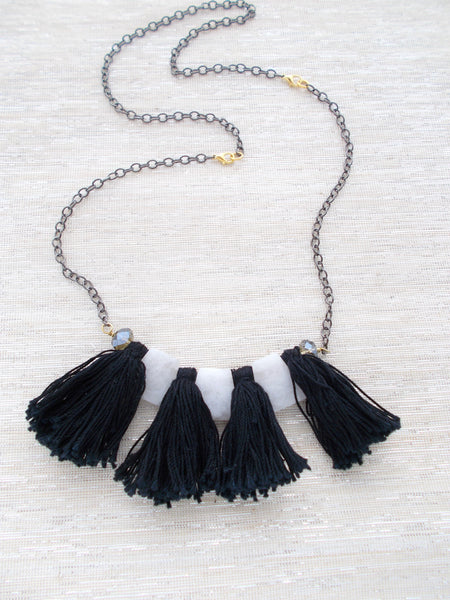 8696JN - Avalanche Convertible Necklace, in Black