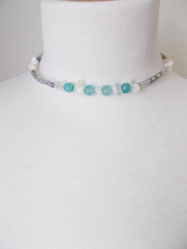(No. 8701JN.a) - Pour Choker in Light Teal