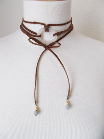 8703JN.b - DownPour Choker in Chocolate
