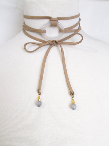 8703JN.a - DownPour Choker in Nude