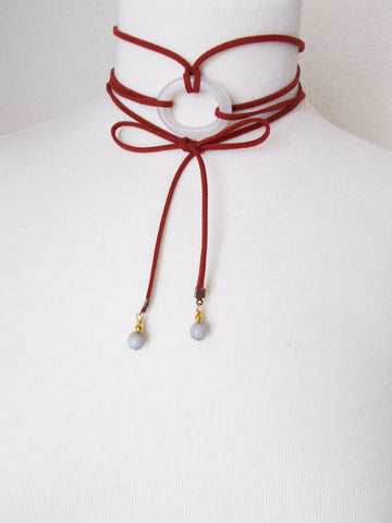 8703JN.c - DownPour Choker in Burgundy