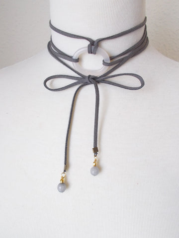 8703JN.d - DownPour Choker in Gray