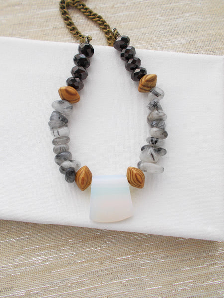 8707JN - Clouded Necklace