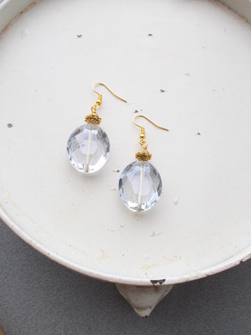 8225JE - RainDrop Earrings, in Light Grey