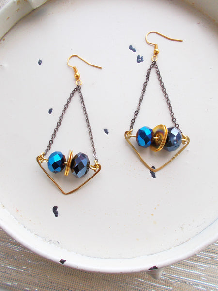 (No. 8687JE.a) - Rainstorm Earrings in Blue