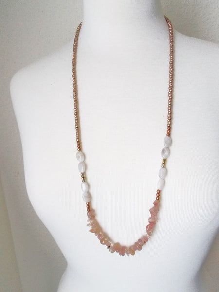 8719JN - Ash Necklace in Pink