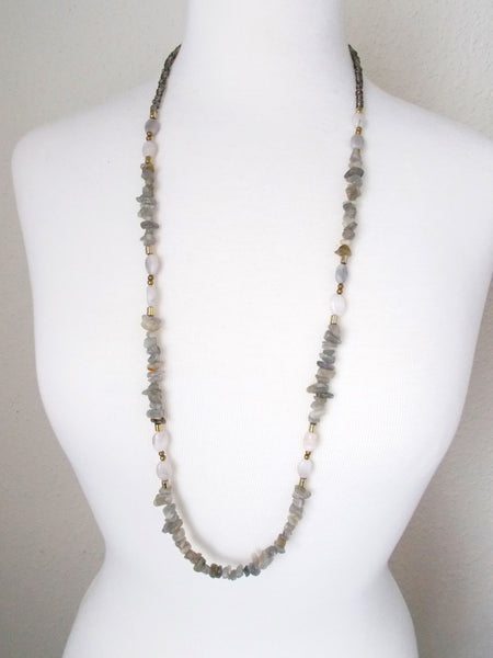 8720JN - Ash Necklace in Gray