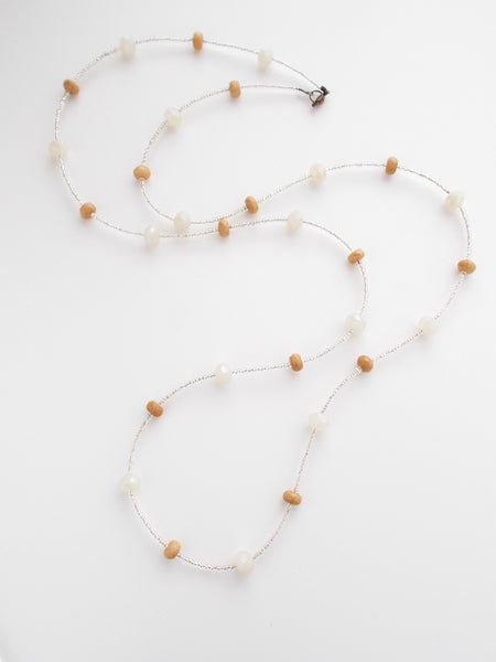 (No. 8722JN) - Dusk Necklace in Tan