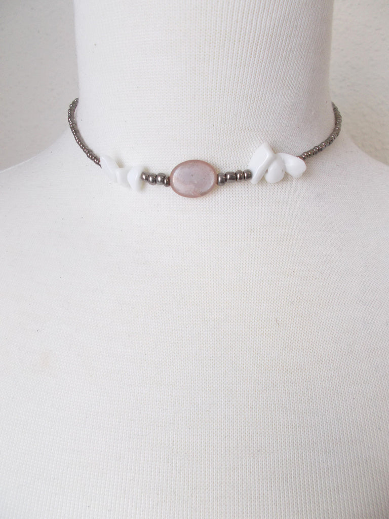 (No. 8726JN.a) - Shadow Choker in Pink