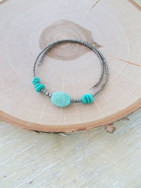 8726JN - Shadow Choker in Turquoise