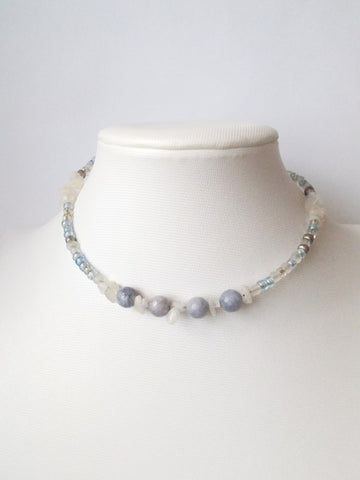 8701JN - Pour Choker in Light Gray