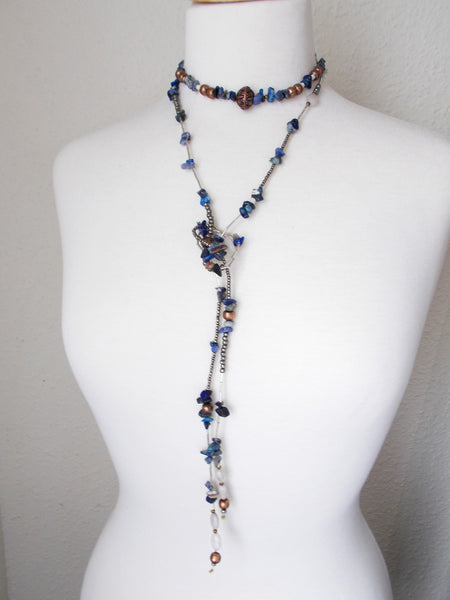 8729JN - Gravel Wrap Necklace