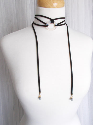 8702JN - DownPour Choker in Black