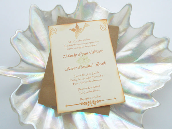 No. 009 - The Mandy Bird Inspired Wedding Invitation