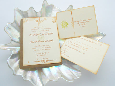 (No. 009) - The Mandy Bird Inspired Wedding Invitation