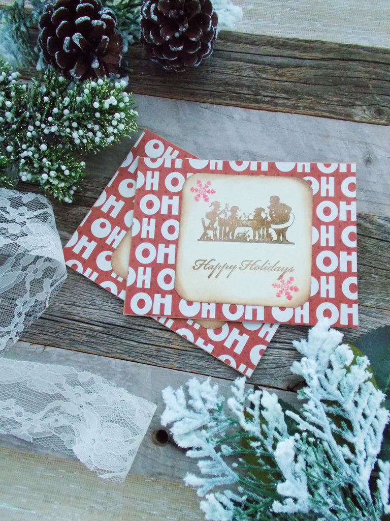 No. 041 - Ho Ho Ho Greeting Cards, Set of 2