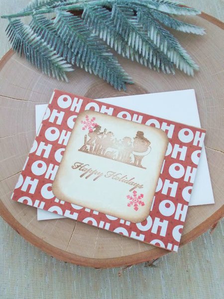 (No. 041) - Ho Ho Ho Greeting Cards, Set of 2