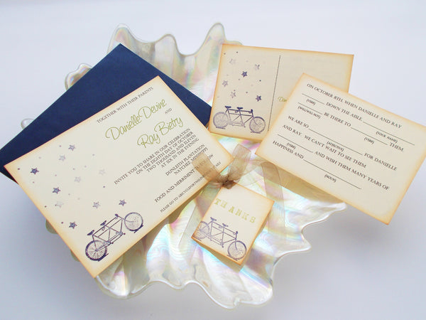 No. 052 - Madlib Tandem Bicycle Wedding Invitations